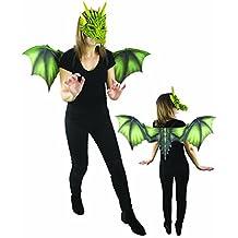 P 'tit payaso 16391Juego con alas de dragón 40x 95cm + máscara, talla única