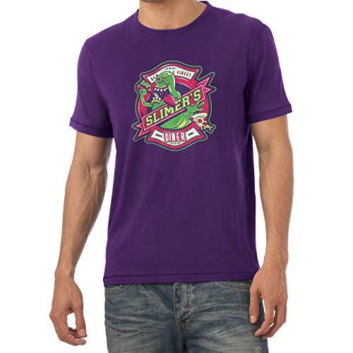 NERDO Slimer's Diner - Herren T-Shirt, Größe XXL, Violett