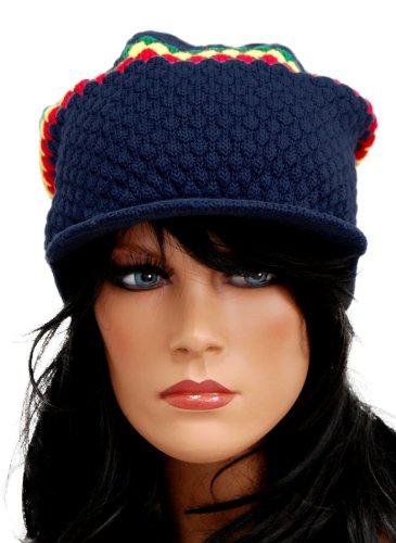 Stylish Rasta Cap - Blau