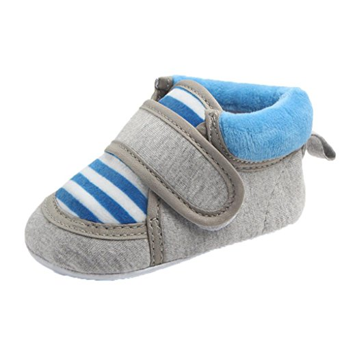 Omiky® Outdoor Baby Stripe Infant Slip Erste Walker Neugeborene Baby Mädchen Stiefel (13CM/9-12Monat, Blau) (Walker Stripe)