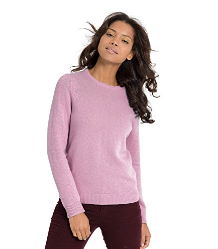 WoolOvers Pull à col rond - Femme - Laine dagneau Pale Rose