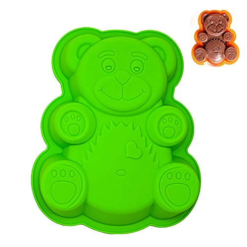 KeepingcooX Super mignon Large Silicone Animal Moule Bear, BPA Free, 29 x 23 x 4 cm