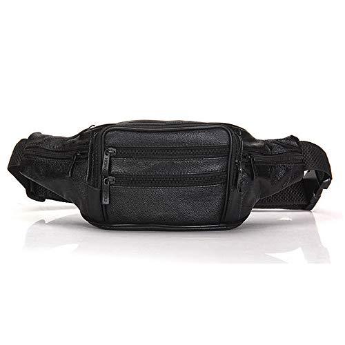 package Herren Ledergürteltasche Körper durch multifunktionales erste Schicht aus Leder lässig Brust Umhängetasche umgeben