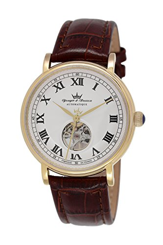 Yonger & Bresson – YBH 8524-03 B – Cerny – Analog – Watch Men – Automatic – White Dial – Brown Leather Bracelet
