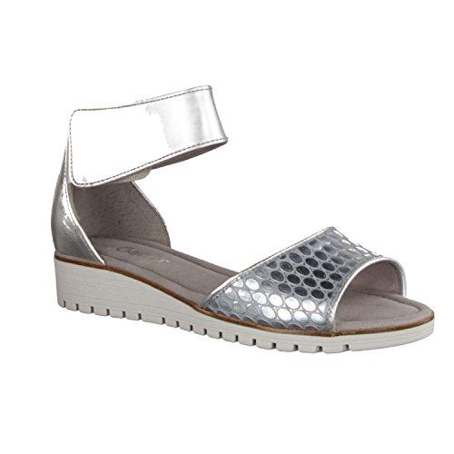 Gabor Casual, Sandali con Cinturino alla Caviglia Donna Multicolore (Silber/cielo)