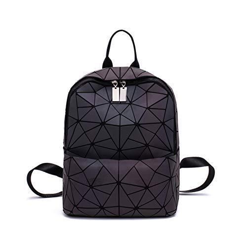 Frauen Geometrisch Leuchtend Rucksack Damen Fashion Taschen Lingge Flash Reise Schule College Rucksack 05S