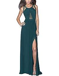 Vestidos Para Mujer Vintage Casual Coctel Sin Espalda Fiesta Para Bodas Largos De Noche Ceremonia Ropa Vestido Azul L
