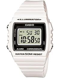 Casio W-215H-7AVEF - Reloj digital de cuarzo unisex con correa de resina, color blanco