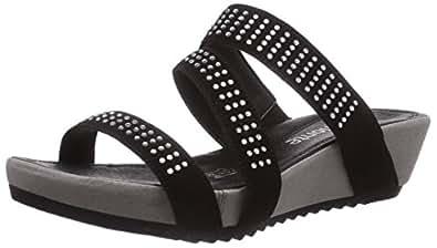remonte r5754 claquettes femme noir noir 01 42 eu chaussures et sacs. Black Bedroom Furniture Sets. Home Design Ideas
