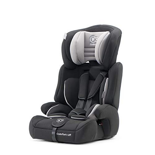 Kinderkraft Kinderautositz COMFORT UP, Autokindersitz, Autositz, Kindersitz, Gruppe 1/2/3 9-36kg, 5-Punkt-Sicherheitsgurt, Einstellbare Kopfstütze, ECE R44/04, Schwarz