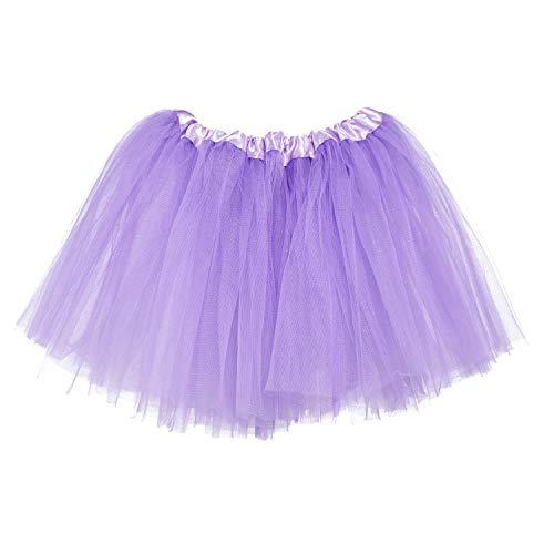 Ksnrang Tutu Damen Rock Tüllrock 50er Kurz Ballet 3 Layers Tanzkleid Zubehör für Frauen Mädchen (Leichter ()