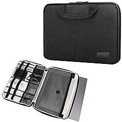 """MoKo Housse de Protection pour Ordinateur Portable 13-13,3"""" avec poignée pour MacBook Air 13,3/13"""" MacBook Pro Retina/Dell XPS13 Chromebook Notebook 13,3"""" Gris foncé"""