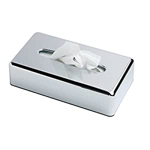 Rectangle Facial Tissue Box Holder Kleenex Flat Napkin Dispenser For Bathroom Vanity Countertops