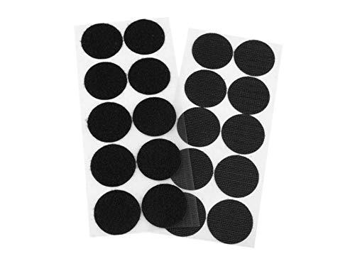 ZADAWERK® 10 punti autoadesivi per chiusura a strappo, extra large Ø 35 mm - nero