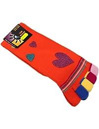 ZS116 Zehensocken Socken mit Zehen bunt V2