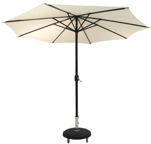 Savino fiorenzo ombrellone ombrello bar giardino mare piscina alluminio ecrù ø 3 m palo centrale apri e chiudi con manovella