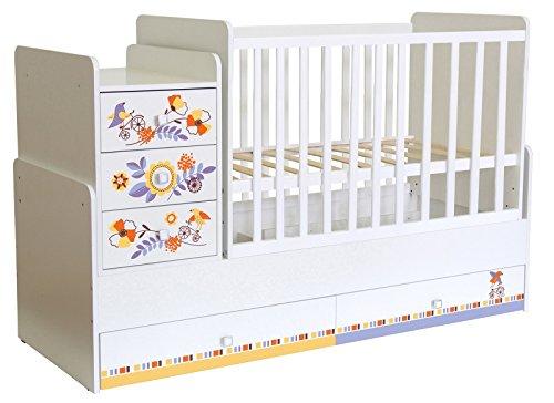 #Polini Kids mitwachsendes Kombi-Kinderbett Simple 1100 mit Motive (Motiv 2)#