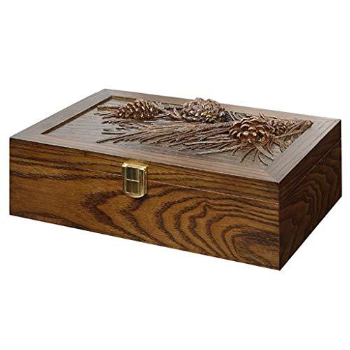 XINKEGF Uhrenbox Aus Holz Vintage Harz Schnitzen Schmuck Aufbewahrungsbox Schmuck Armband Display Box/Sammelbox/Schutzbox Bietet Platz Für 8 Uhren. (Color : Brown) -