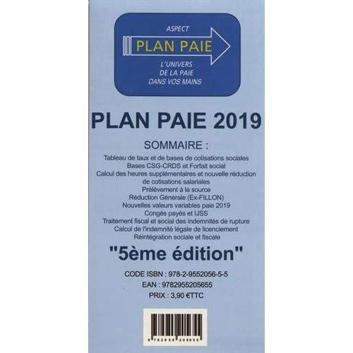 LE PLAN PAIE 2019