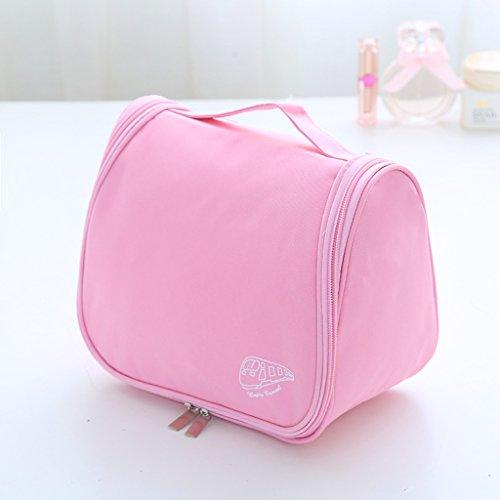 % @ HUAZHUNG - Cosmetic Bag Carino cosmetica coreana delle signore di sacchetto sacchetto cosmetico grande capacità di archiviazione borsa da viaggio impermeabile Wash B