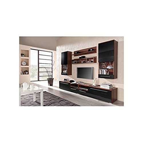 BMF LUNA Modern HIGH GLOSS WALL Entertainment UNIT TV Stand Cabinet