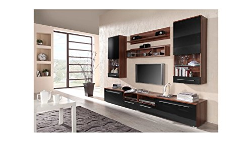 BMF LUNA Modern HIGH GLOSS WALL Entertainment UNIT / TV Stand Cabinet - PERFECT FOR Living Room / Bedroom / Studio Flat - QUALITY suitable for PLASMA / LED / LCD / OLED TVs!!! - WOOD