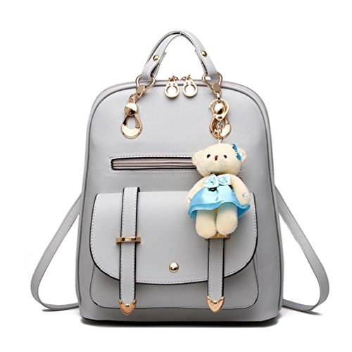 XibeiTrade ,  Mädchen Damen Rucksackhandtaschen Grau