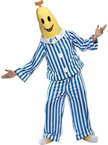 Luxuspiraten - Herren Männer Bananas in Pyjamas Kostüm mit Oberteil, Hose, Kopfbedeckung und Schuhüberzieher, perfekt für Karneval, Fasching und Fastnacht, M, - Heman Und Shera Kostüm