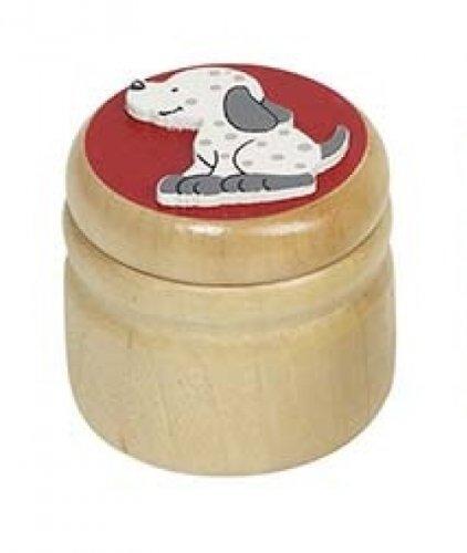 Milchzahndose Hund Zahndose Holz Holzdose