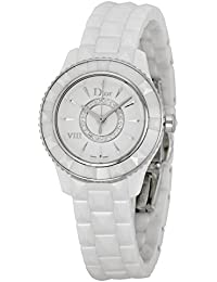 Christian Dior VIII Diamante Blanco Cerámica Damas Reloj cd1221e2 C001
