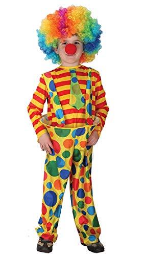 Inception Pro Infinite Größe M - 4 - 5 Jahre - Kostüm - Verkleidung - Karneval - Halloween - Fett Clown - Zirkus - Gelb - Unisex - Kinder