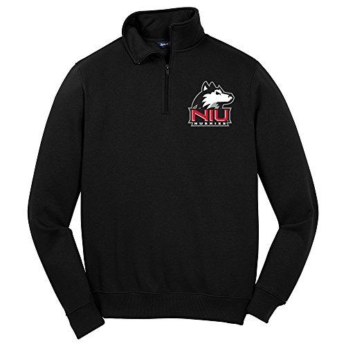 NCAA Northern Illinois Huskies Herren 1/4Zip Pullover, 4X Große, schwarz