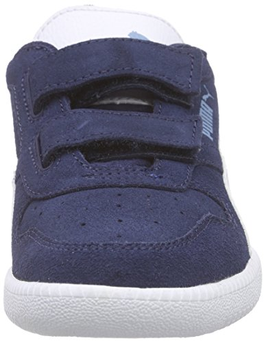 Puma Icra Trainer Sd V Inf Unisex-Kinder Low-Top Blau (peacoat-white 08)