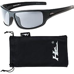 Hornz HZ Serie Arkana - Gafas de Sol Polarizadas Premium Marco negro mate – Lente de humo oscuro