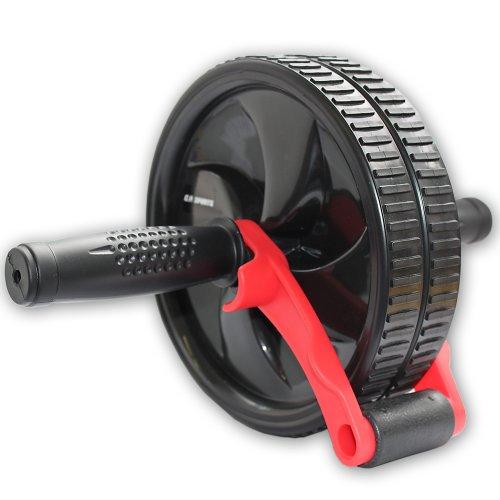 C.P. Sports Trainingshilfen Bauchroller mit Bremse, Schwarz/Rot, One size, 38794