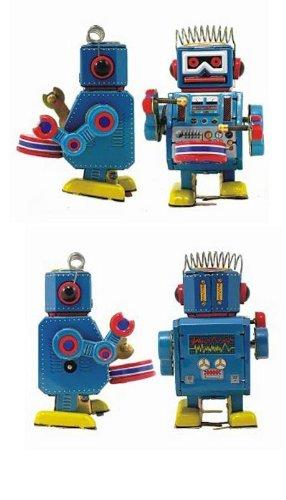 Blechspielzeug zum Aufziehen tin toys wind up new rare-süßer Becken spielender Affe Robot Spielzeug