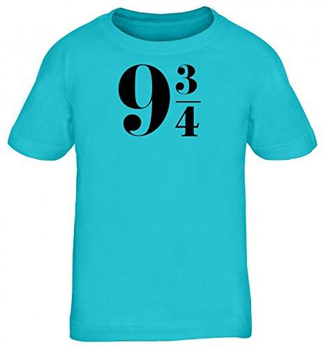 Kinder T-Shirt Rundhals Mädchen Jungen Harry 9 3/4, Größe: 152/164,Türkis