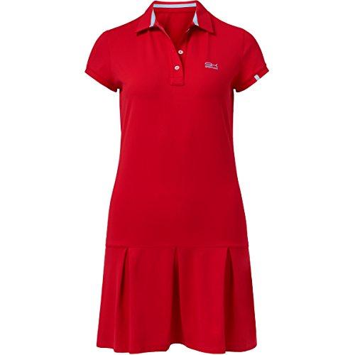Sportkind Mädchen & Damen Tennis / Hockey / Golf Polokleid, rot, Gr. XL