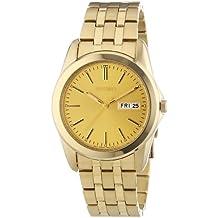 Seiko SGGA48P1 - Reloj analógico de caballero de cuarzo con correa de acero  inoxidable dorada - 4ea52cb7de07