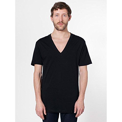 American Apparel Unisex T-Shirt mit tiefem V-Ausschnitt, Kurzarm Lapis