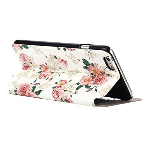 """MOONCASE pour iPhone 6 Plus (5.5"""") Case Coque en Cuir Housse de Protection Étui à rabat Case Mi26 Mi08 #1130"""