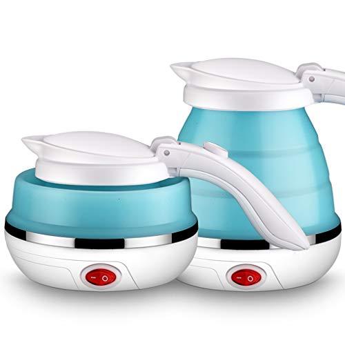 Wenhui 500ML Faltbare Reise Wasserkocher Lebensmittelqualität Silikon zusammenklappbarer tragbarer Wasserkocher, einfach und bequem zu lagern
