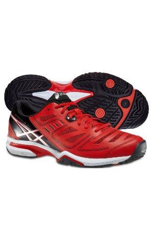 Asics, Scarpe da tennis uomo rosso/nero 11.5 US - 46,0 UE - rosso/nero