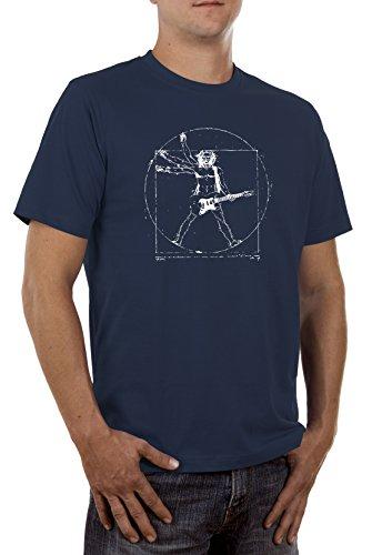Halloween Schere Rock Kostüm Papier (Da Vinci Rock Herren T-Shirt)