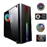 Noua Noob X1 Noir Boitier PC Gamer Noir ATX 1 Ventilateur RGB RAINBOW 120 mm 2 Bandes...