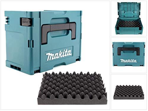 Makita MAKPAC 3 Systemkoffer - mit Universaleinlage für Makita 18 V Akku Geräte Schrauber Sägen Schleifer