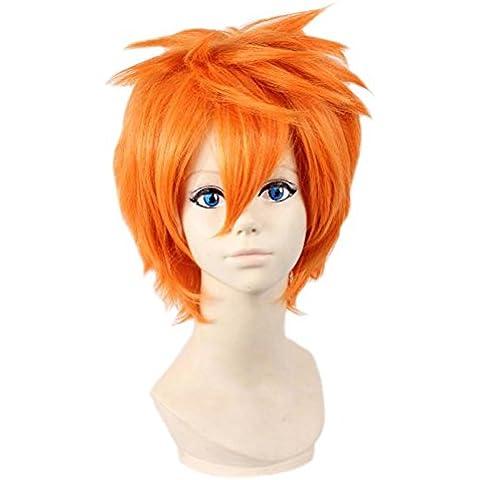 Etruke diseño de personajes de manga corta de color naranja y Hallowen para el pelo de ratón de las pelucas