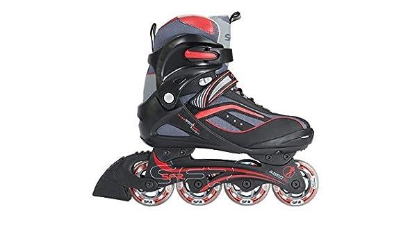 Rot UK Skates 41 SFR Inline Milan US 8 7 Schwarz EU Ym76ybIfgv
