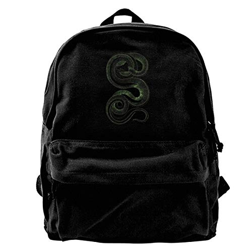 Jiaojiaozhe Green Python Snake Men Women Boy Girls Backpack Bag Cotton Running Adjustable Strap Hip Bum -