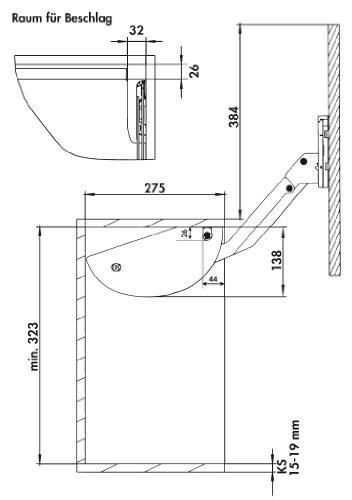 Gewürzbord 4x6 Dosen, B 375 x H 420 mm (Oberschrank Regal)